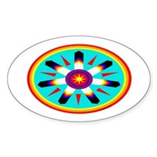 EAGLE FEATHER MEDALLION Decal