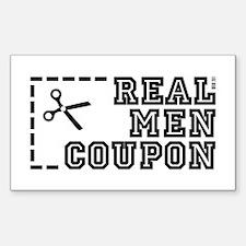 REAL MEN COUPON Decal