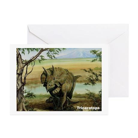 Triceratops Dinosaur Greeting Cards (Pk of 10)