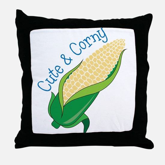 Cute And Corny Throw Pillow