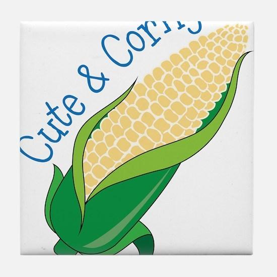 Cute And Corny Tile Coaster