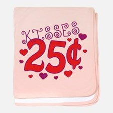 Kisses 25 cents baby blanket