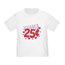 Kisses 25 cents T