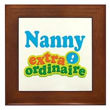 Nanny Extraordinaire Framed Tile