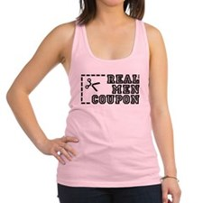 REAL MEN COUPON Racerback Tank Top