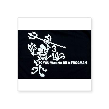 Navy Seal Team 3 Frogman Rectangle Sticker