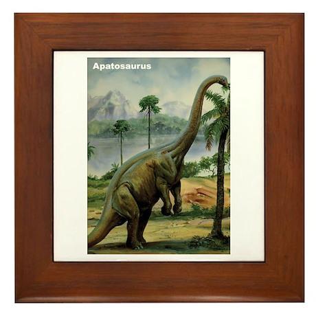 Apatosaurus Dinosaur Framed Tile