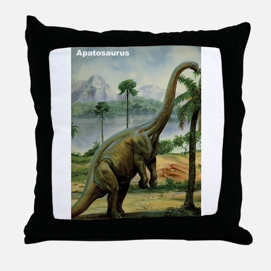 Apatosaurus Dinosaur Throw Pillow