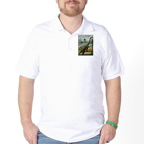 Apatosaurus Dinosaur Golf Shirt