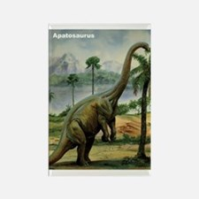 Apatosaurus Dinosaur Rectangle Magnet