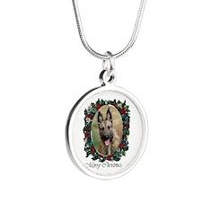 Belgian Laekenois Silver Round Necklace
