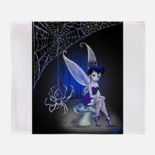 Spider Gothic Fairy Throw Blanket