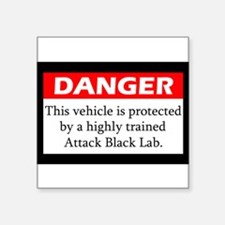 Attack Black Lab Sticker