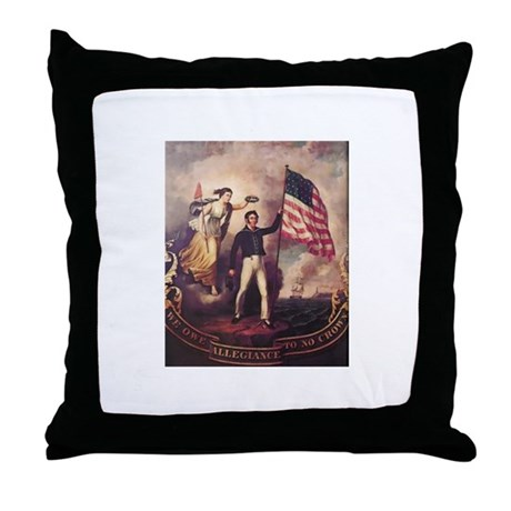 No Allegiance to the Crown Throw Pillow