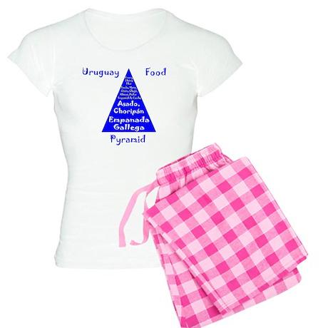 Uruguay Food Pyramid Women's Light Pajamas