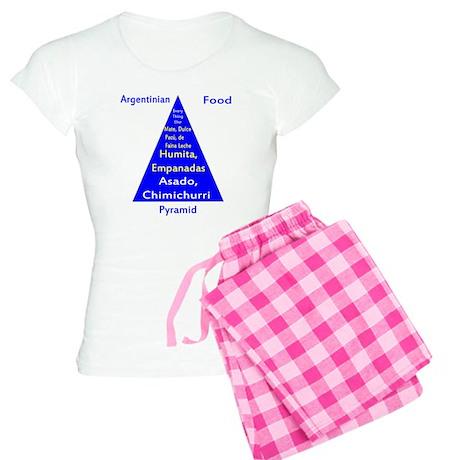 Argentinian Food Pyramid Women's Light Pajamas
