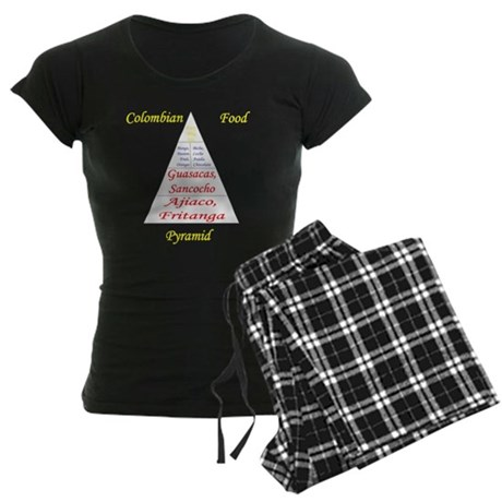 Colombian Food Pyramid Women's Dark Pajamas