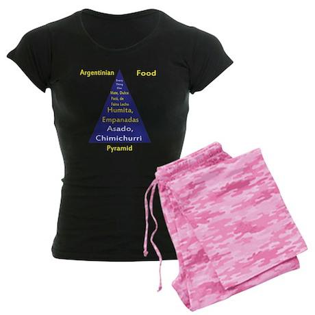 Argentinian Food Pyramid Women's Dark Pajamas