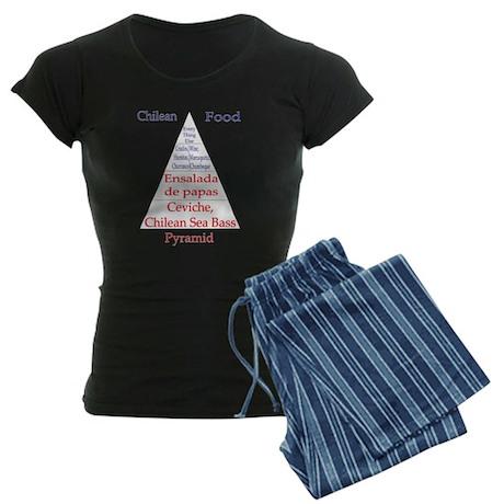 Chilean Food Pyramid Women's Dark Pajamas
