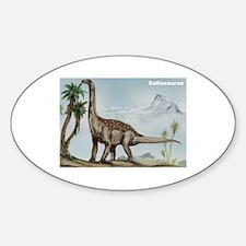 Sallasaurus Dinosaur Oval Decal