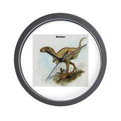 Drinker Dinosaur Wall Clock
