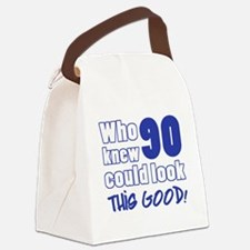90 Years Old Looks Good Canvas Lunch Bag