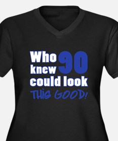 90 Years Old Looks Good Women's Plus Size V-Neck D