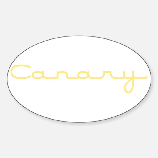 Canary Oval Decal