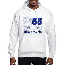55 Years Old Looks Good Hoodie