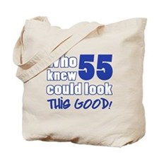 55 Years Old Looks Good Tote Bag