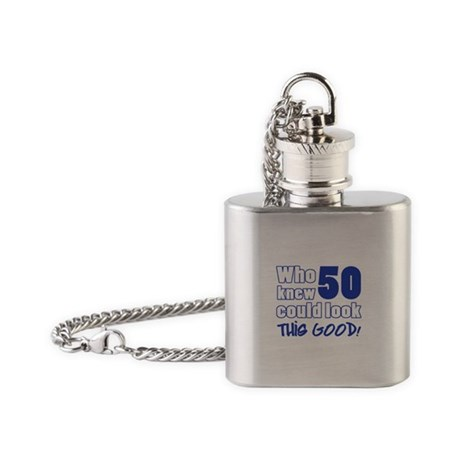 50 Years Old Looks Good Flask Necklace