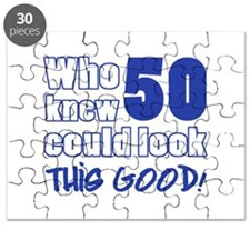 50 Years Old Looks Good Puzzle