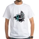 Hope Ovarian Cancer White T-Shirt