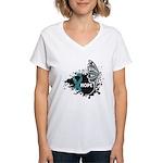 Hope Ovarian Cancer Women's V-Neck T-Shirt