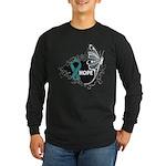 Hope Ovarian Cancer Long Sleeve Dark T-Shirt