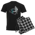 Hope Ovarian Cancer Men's Dark Pajamas