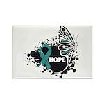 Hope Ovarian Cancer Rectangle Magnet (100 pack)