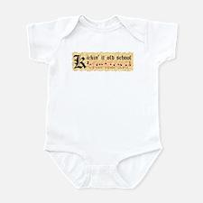 """""""Kickin' It Old School"""" Infant Bodysuit"""