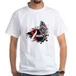 Hope Oral Cancer White T-Shirt