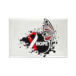 Hope Oral Cancer Rectangle Magnet