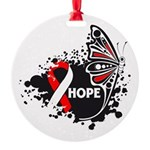 Hope Oral Cancer Round Ornament