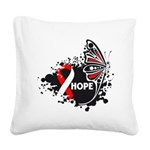 Hope Oral Cancer Square Canvas Pillow
