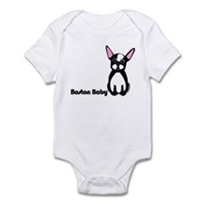 """Boston Baby"" Boston Terrier Infant Bodysuit"