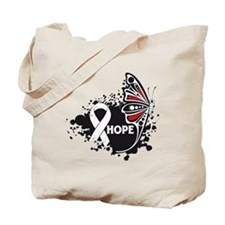 Hope Mesothelioma Butterfly Tote Bag