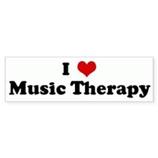 I Love Music Therapy Bumper Car Sticker