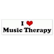 I Love Music Therapy Bumper Car Sticker