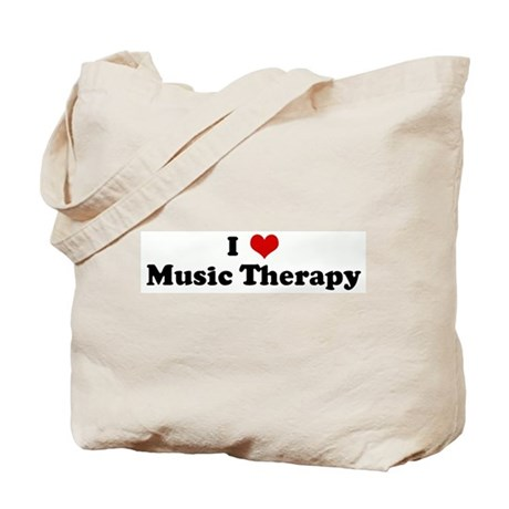 I Love Music Therapy Tote Bag