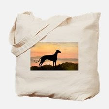 greyhound dog sunset wide.jpg Tote Bag