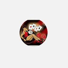 Rockabilly Eightball Pin-up Mini Button
