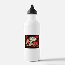Rockabilly Eightball Pin-up Water Bottle